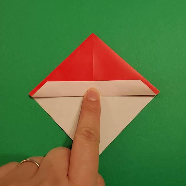 スイカの折り紙 両面とも三角になる作り方折り方(18)