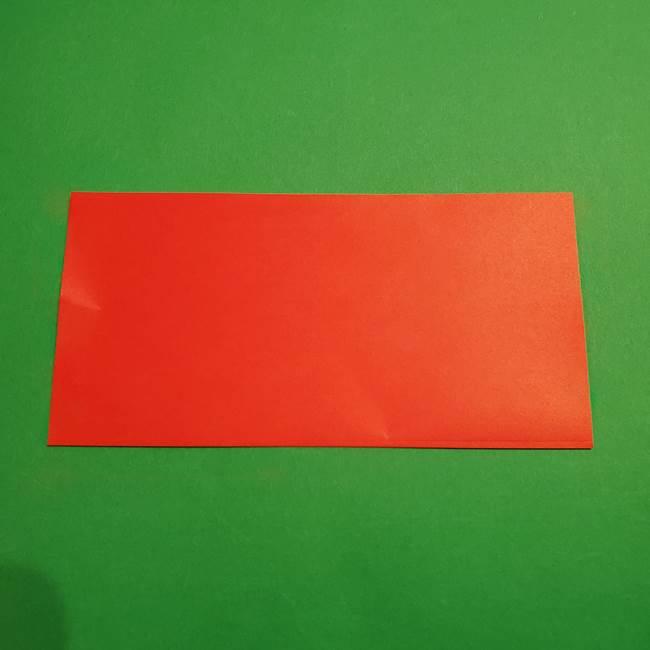 スイカの折り紙 両面とも三角になる作り方折り方(2)