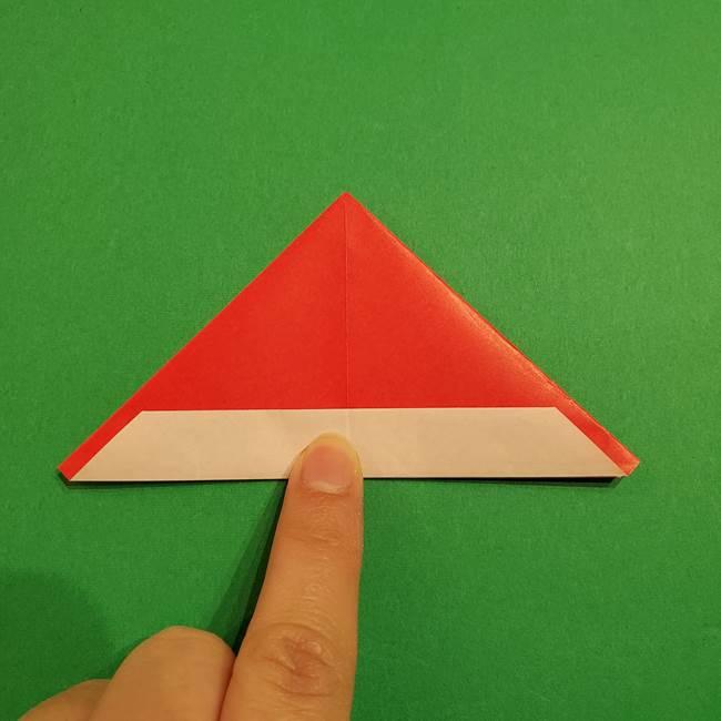 スイカの折り紙 両面とも三角になる作り方折り方(20)