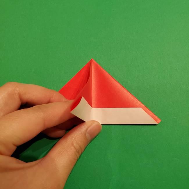 スイカの折り紙 両面とも三角になる作り方折り方(21)