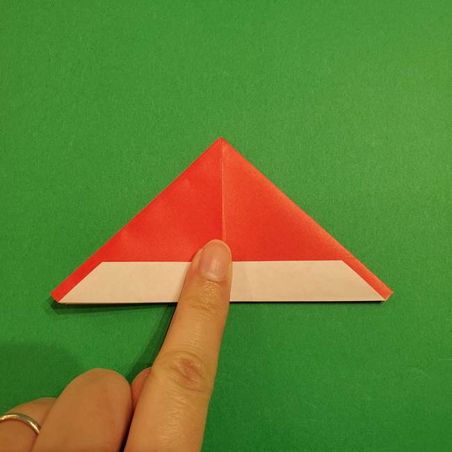 スイカの折り紙 両面とも三角になる作り方折り方(23)