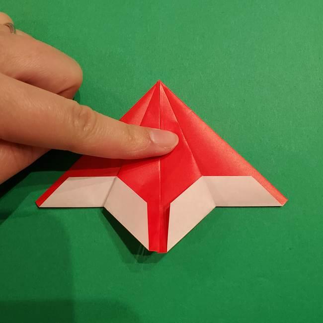 スイカの折り紙 両面とも三角になる作り方折り方(25)