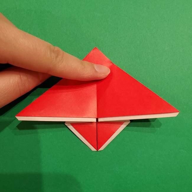 スイカの折り紙 両面とも三角になる作り方折り方(26)