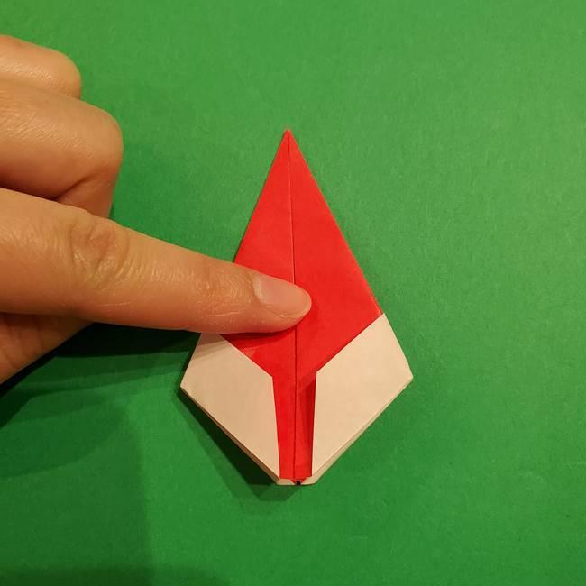 スイカの折り紙 両面とも三角になる作り方折り方(27)