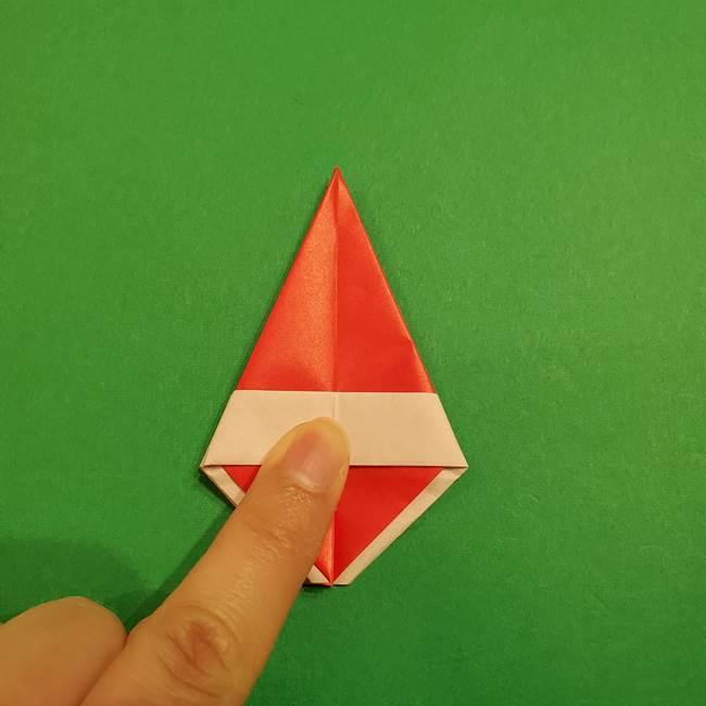 スイカの折り紙 両面とも三角になる作り方折り方(29)