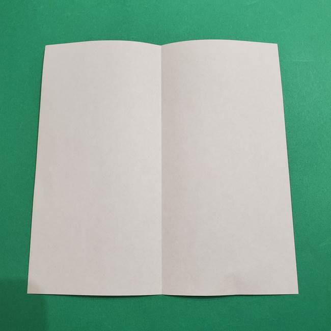 スイカの折り紙 両面とも三角になる作り方折り方(3)