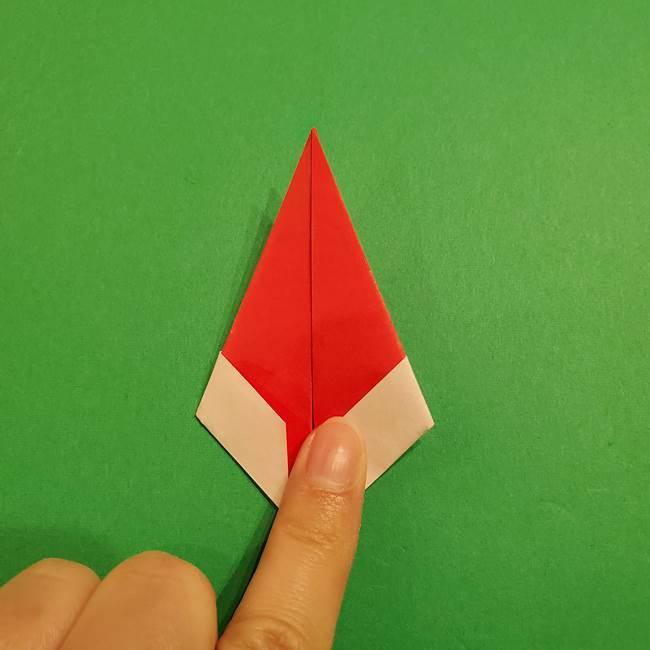 スイカの折り紙 両面とも三角になる作り方折り方(30)