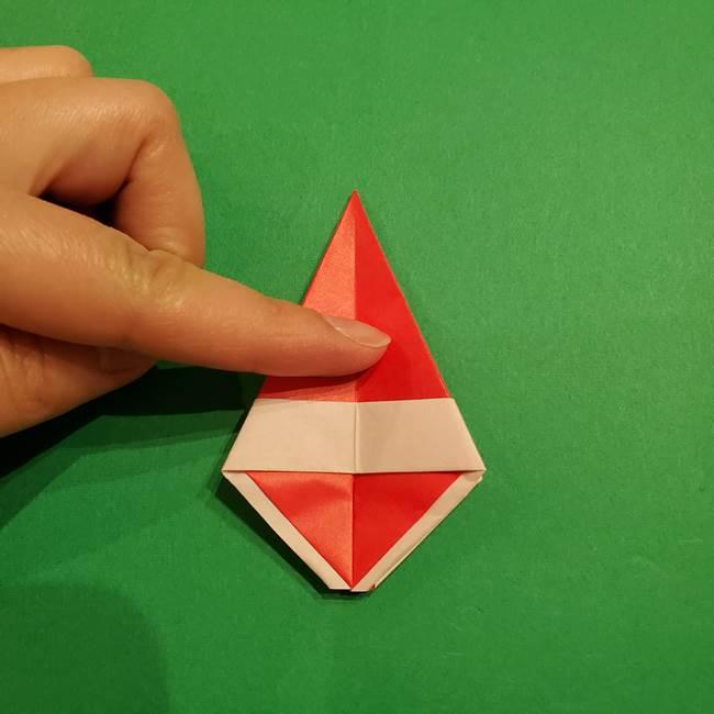 スイカの折り紙 両面とも三角になる作り方折り方(31)