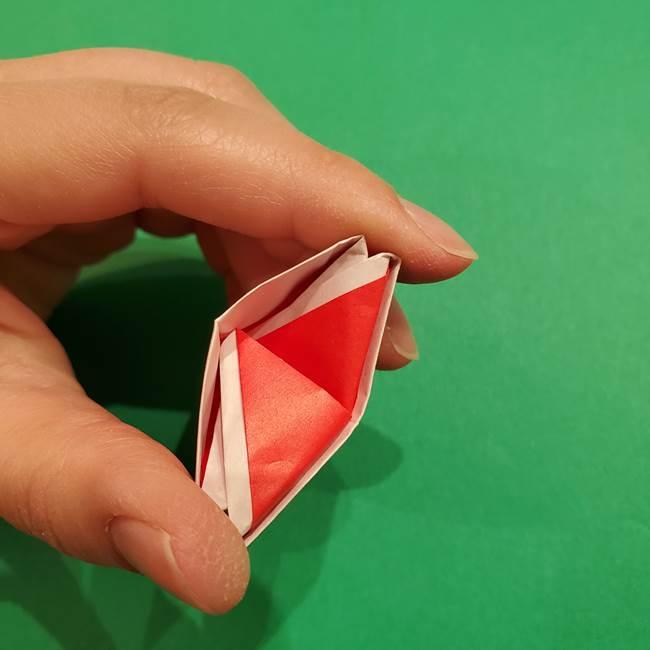 スイカの折り紙 両面とも三角になる作り方折り方(33)