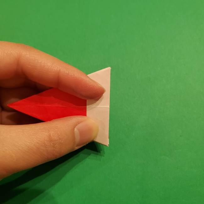 スイカの折り紙 両面とも三角になる作り方折り方(34)