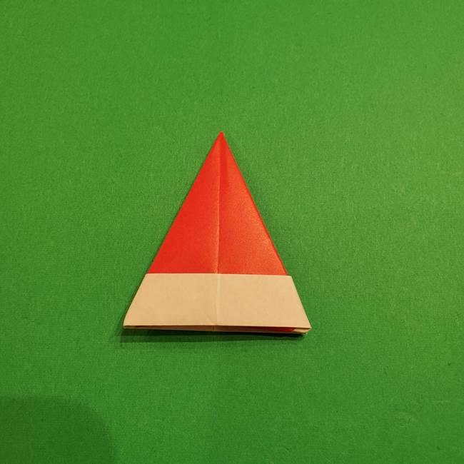スイカの折り紙 両面とも三角になる作り方折り方(35)