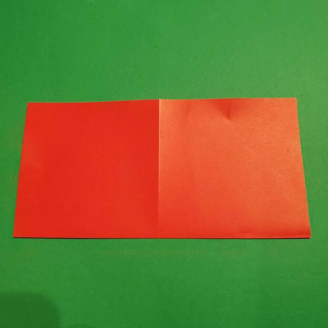 スイカの折り紙 両面とも三角になる作り方折り方(4)