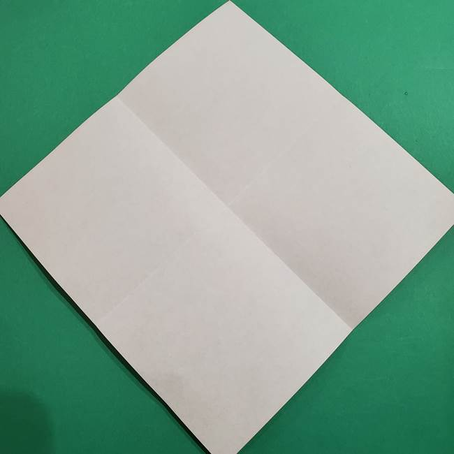 スイカの折り紙 両面とも三角になる作り方折り方(5)