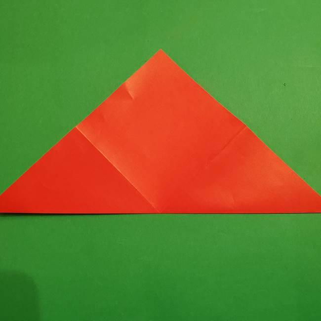 スイカの折り紙 両面とも三角になる作り方折り方(6)