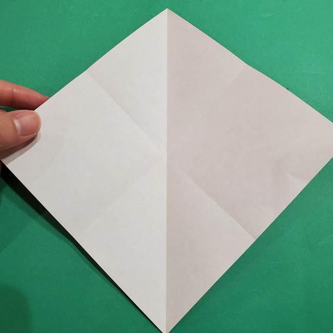 スイカの折り紙 両面とも三角になる作り方折り方(7)