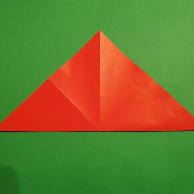 スイカの折り紙 両面とも三角になる作り方折り方(8)