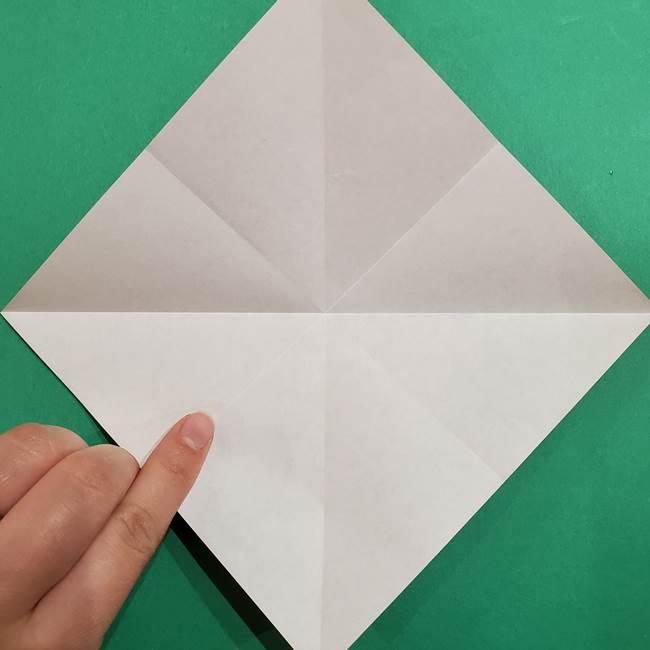 スイカの折り紙 両面とも三角になる作り方折り方(9)