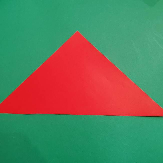 スイカの折り紙 3歳の年少の娘と一緒に手作り☆(3)