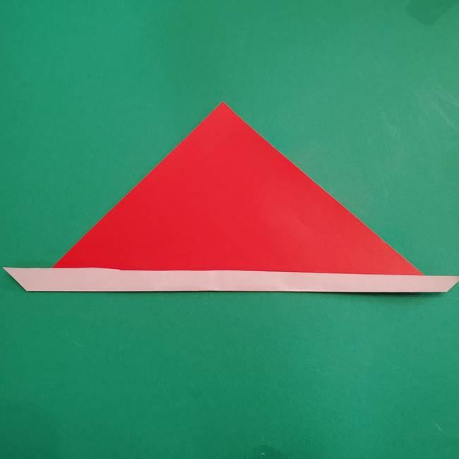 スイカの折り紙 3歳の年少の娘と一緒に手作り☆(4)