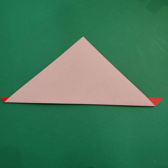 スイカの折り紙 3歳の年少の娘と一緒に手作り☆(5)