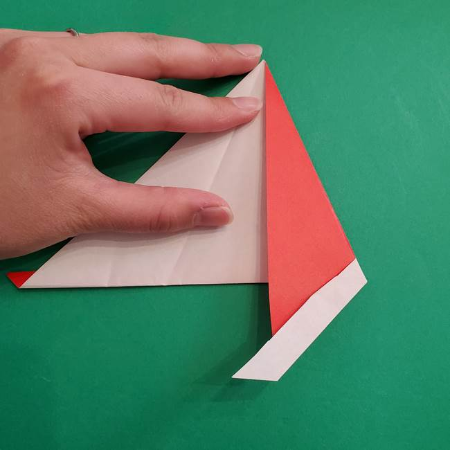 スイカの折り紙 3歳の年少の娘と一緒に手作り☆(6)