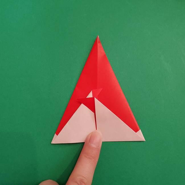 スイカの折り紙 3歳の年少の娘と一緒に手作り☆(8)