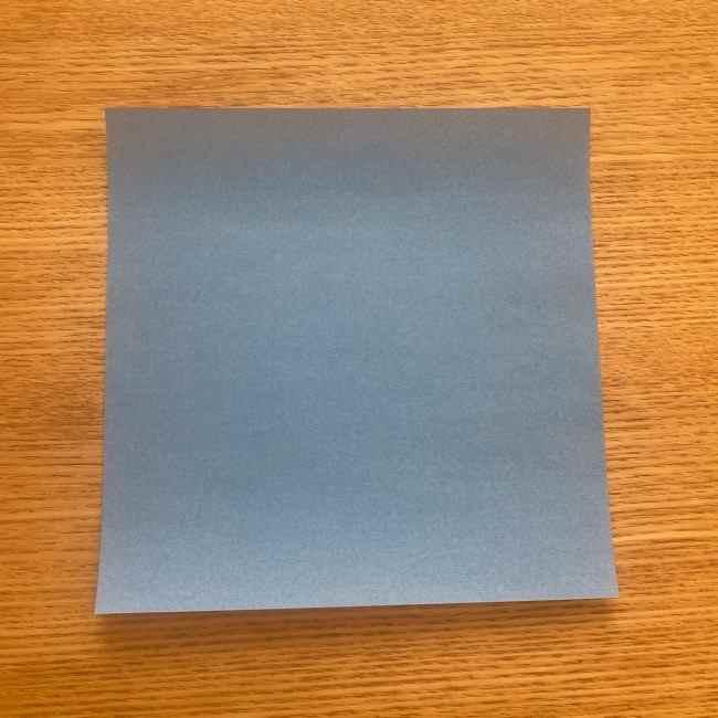妖怪ウォッチの折り紙 デカニャンの折り方(顔)作り方 (1)