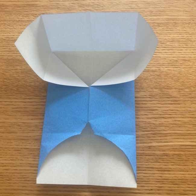 妖怪ウォッチの折り紙 デカニャンの折り方(顔)作り方 (15)