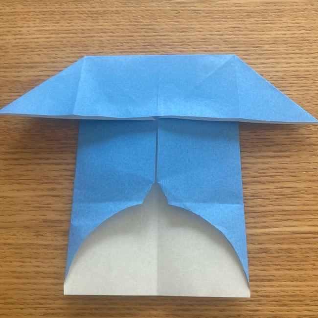 妖怪ウォッチの折り紙 デカニャンの折り方(顔)作り方 (16)