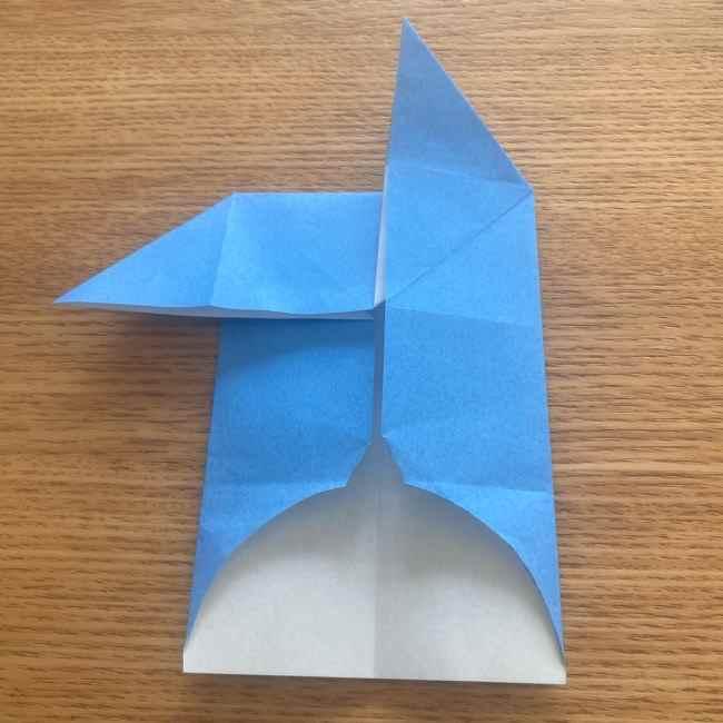 妖怪ウォッチの折り紙 デカニャンの折り方(顔)作り方 (17)