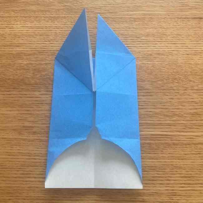 妖怪ウォッチの折り紙 デカニャンの折り方(顔)作り方 (18)