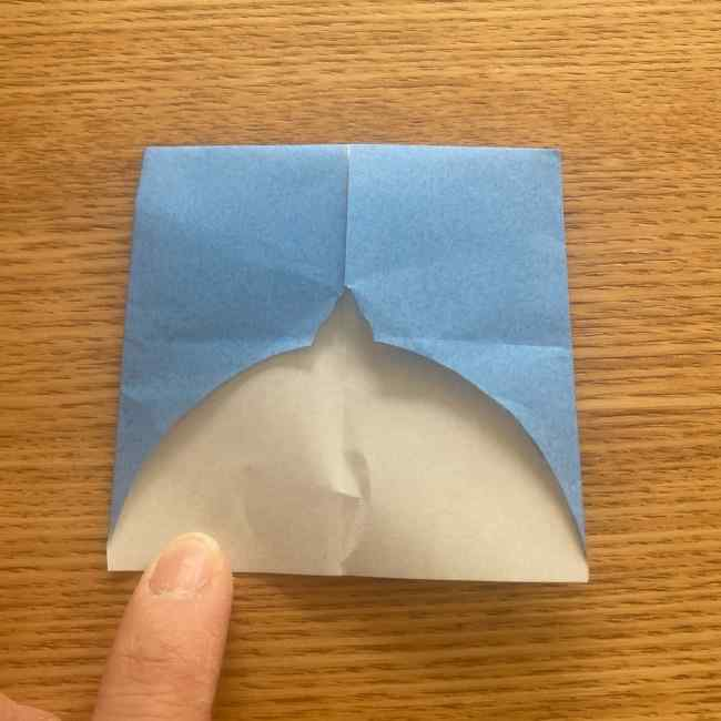 妖怪ウォッチの折り紙 デカニャンの折り方(顔)作り方 (19)