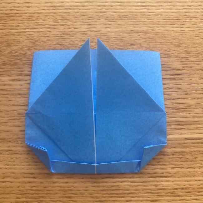 妖怪ウォッチの折り紙 デカニャンの折り方(顔)作り方 (22)