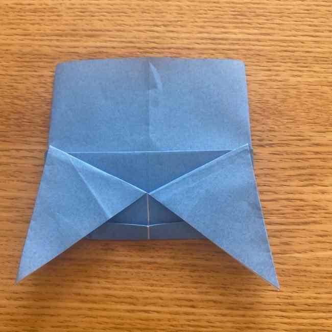 妖怪ウォッチの折り紙 デカニャンの折り方(顔)作り方 (23)
