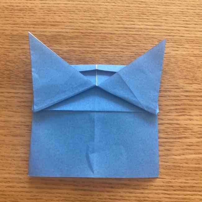 妖怪ウォッチの折り紙 デカニャンの折り方(顔)作り方 (24)