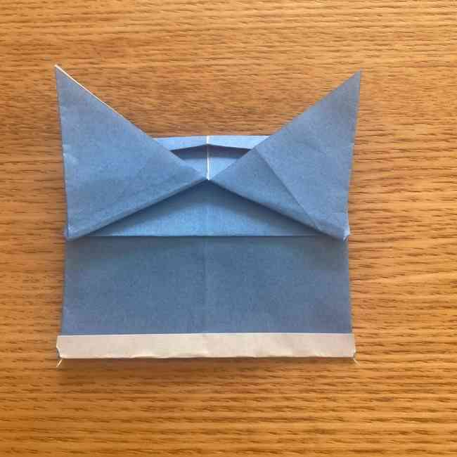 妖怪ウォッチの折り紙 デカニャンの折り方(顔)作り方 (25)