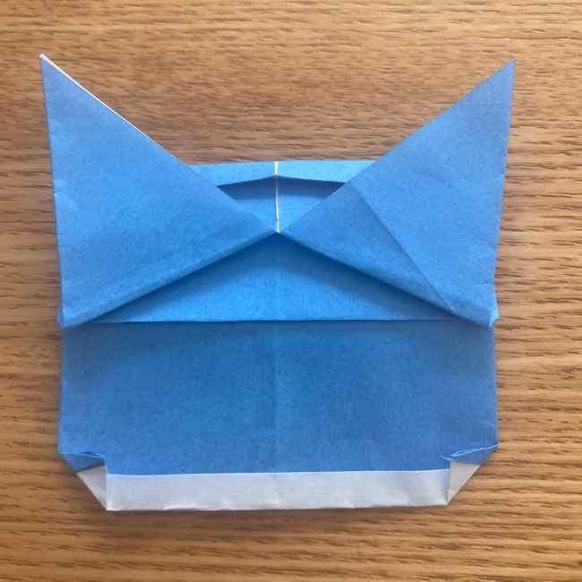 妖怪ウォッチの折り紙 デカニャンの折り方(顔)作り方 (26)