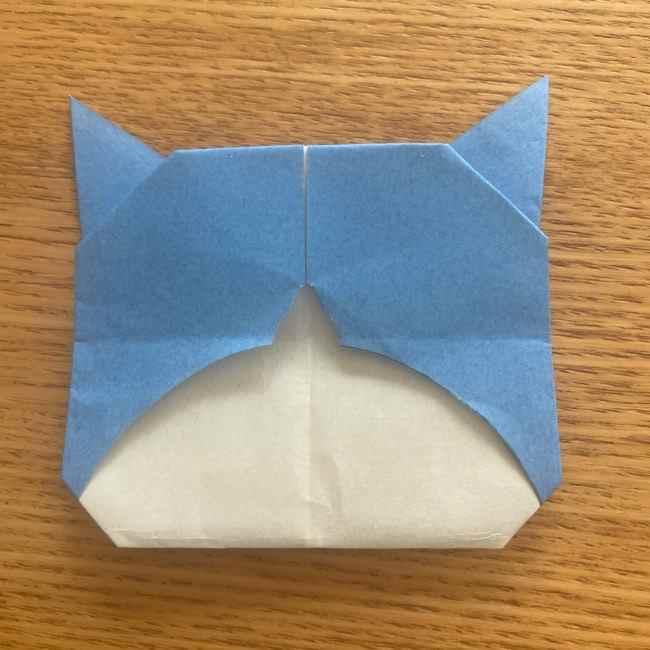 妖怪ウォッチの折り紙 デカニャンの折り方(顔)作り方 (27)
