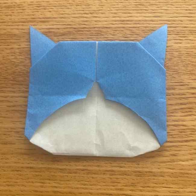 妖怪ウォッチの折り紙 デカニャンの折り方(顔)作り方 (28)