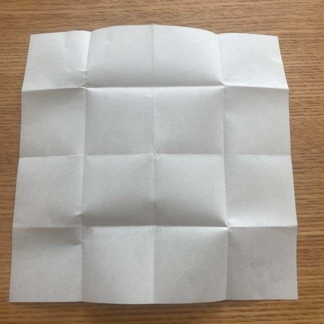 妖怪ウォッチの折り紙 デカニャンの折り方(顔)作り方 (7)