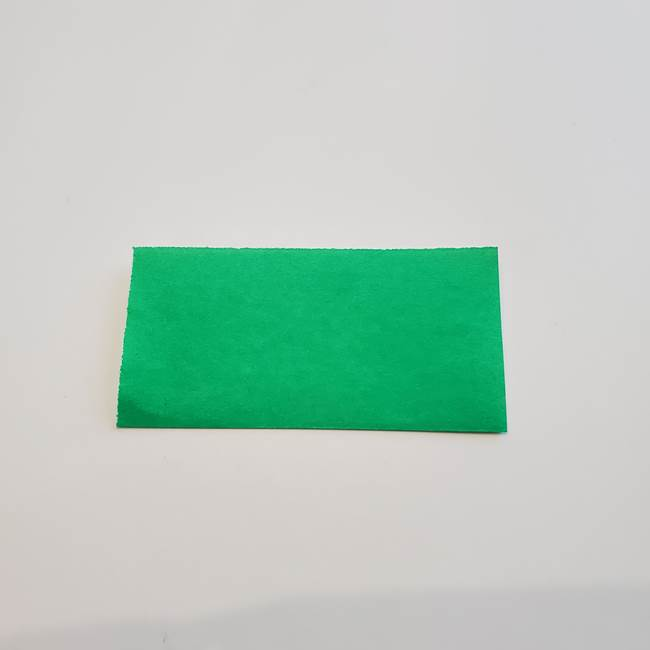 折り紙「カーネーションの葉っぱ」の折り方作り方①葉っぱ(2)