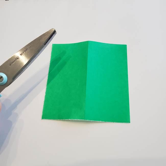 折り紙「カーネーションの葉っぱ」の折り方作り方①葉っぱ(3)