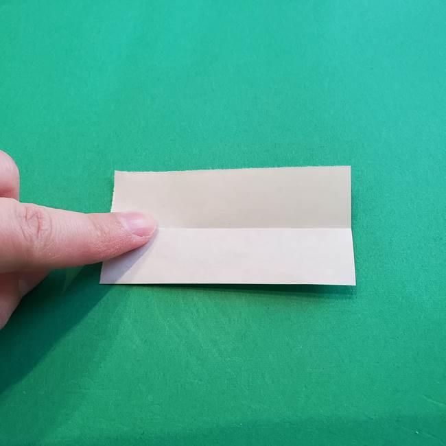 折り紙「カーネーションの葉っぱ」の折り方作り方①葉っぱ(7)
