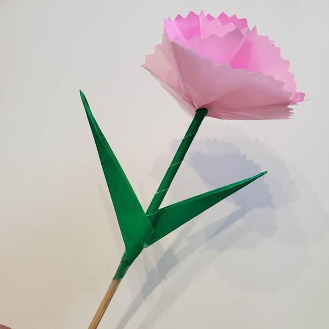 折り紙「カーネーションの葉っぱ」の折り方作り方②組み合わせ(10)