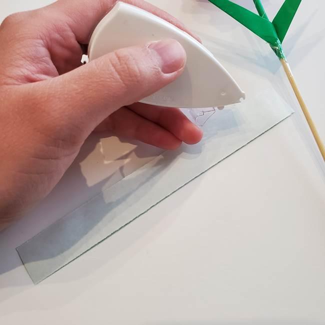 折り紙「カーネーションの葉っぱ」の折り方作り方②組み合わせ(11)