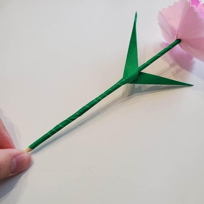 折り紙「カーネーションの葉っぱ」の折り方作り方②組み合わせ(13)