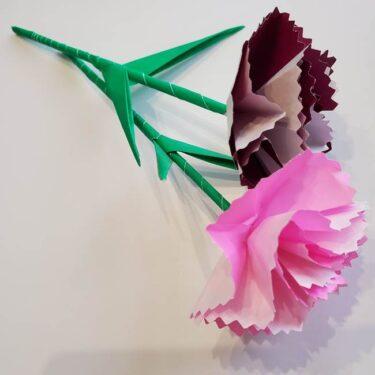 折り紙 カーネーションの葉っぱの簡単な折り方★つけるとグッと華やかに♪