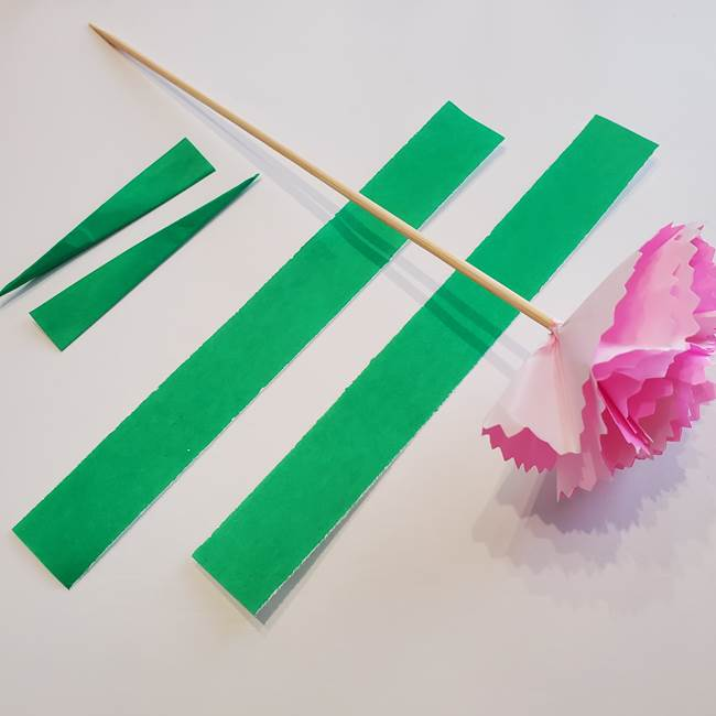 折り紙「カーネーションの葉っぱ」の折り方作り方②組み合わせ(2)