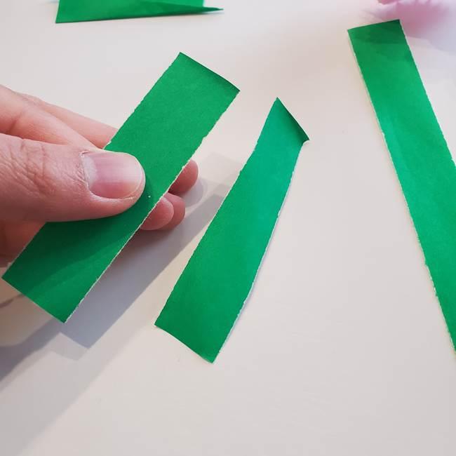 折り紙「カーネーションの葉っぱ」の折り方作り方②組み合わせ(3)