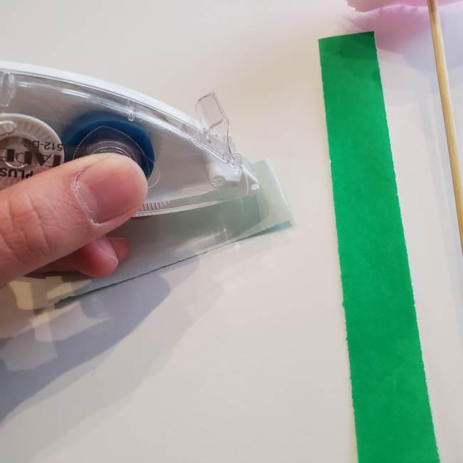 折り紙「カーネーションの葉っぱ」の折り方作り方②組み合わせ(4)